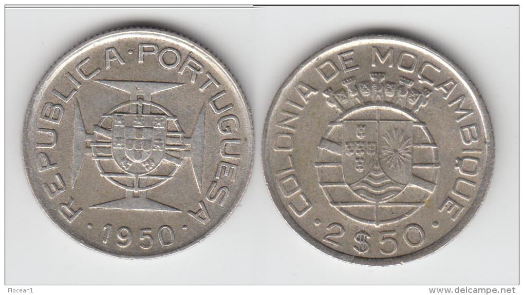 **** MOZAMBIQUE - PORTUGAL - 2,50 ESCUDOS 1950 - ARGENT - SILVER **** EN ACHAT IMMEDIAT !!! - Mozambique