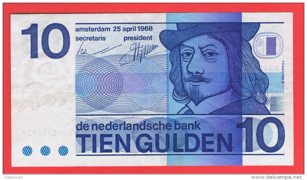 HOLANDA - Netherlands - Pays-Bas = 10  Gulden 1968  P-91 - [2] 1815-… : Reino De Países Bajos