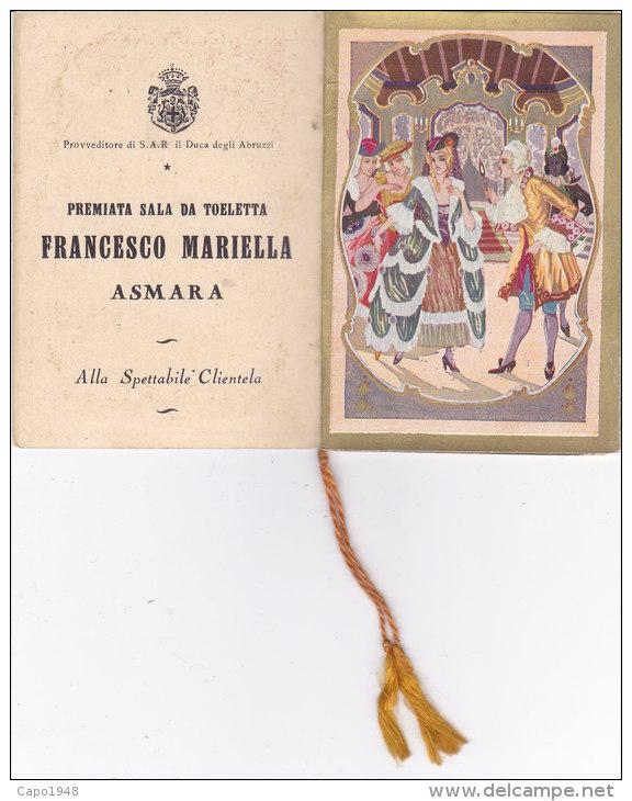 CALENDARIETTO  LIBERTY CASANOVA A VENEZIA PREMIATA SALA DA TOELETTA FRANCESCO MARIELLO ASMARA 1931-2--0882-16787-786-785 - Calendriers