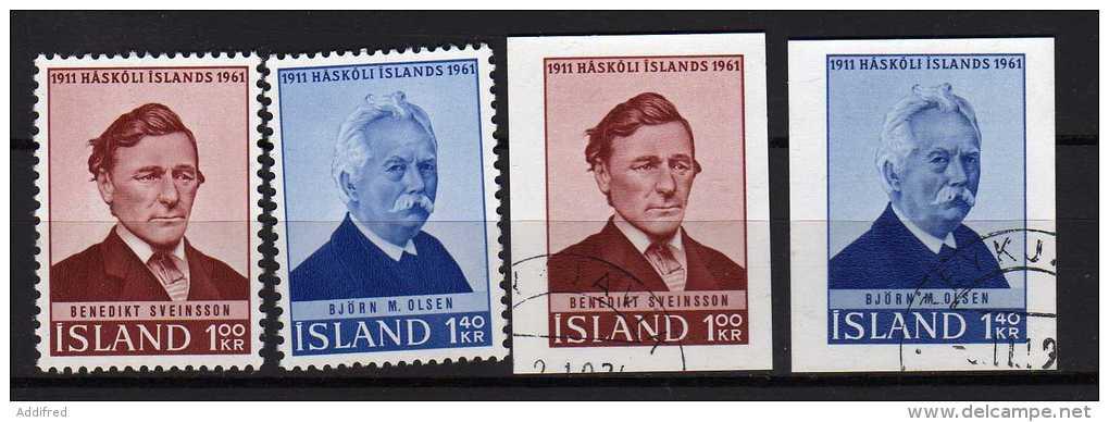 Islande Y&t N° 313.314 Dentelés Neufs Et Sans Dents Oblitérés (877) - 1944-... Republik