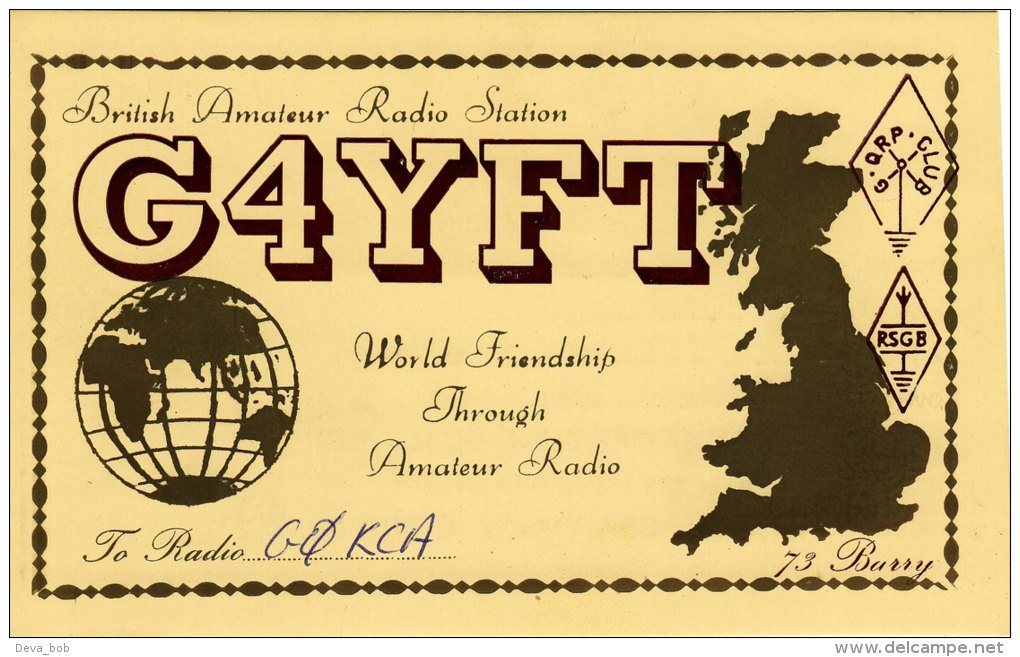 Amateur Radio QSL Card England G4YFT Tividale West Midlands Page - Radio Amateur