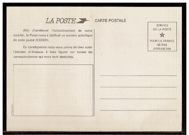 0204 - Pseudo-PAP, Carte Postale De La Poste : CODE POSTAL. Neuve. - Pseudo-entiers Officiels