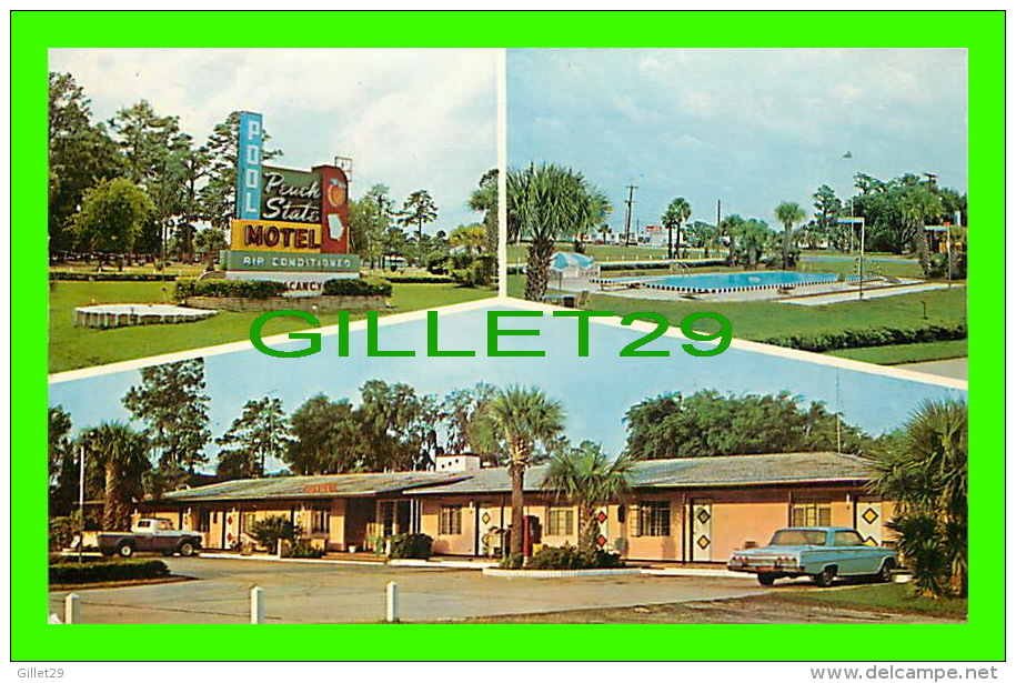 BRUNSWICK, GA - PEACH STATE MOTEL - TRAVEL IN 1970 - ANIMATED OLD CARS - - United States