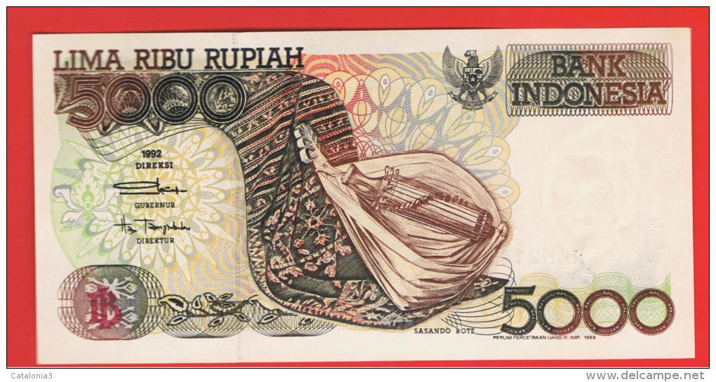 INDONESIA -  5000 Rupias 1992 (99) SC  P-130 - Indonesia