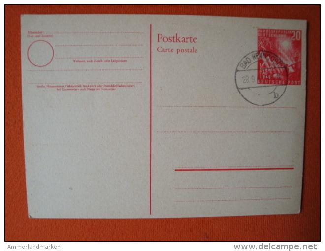 """BRD: Ganzsache PSo2 Stempel""""Bad Nenndorf 28.9.49"""" - Postkarten - Gebraucht"""