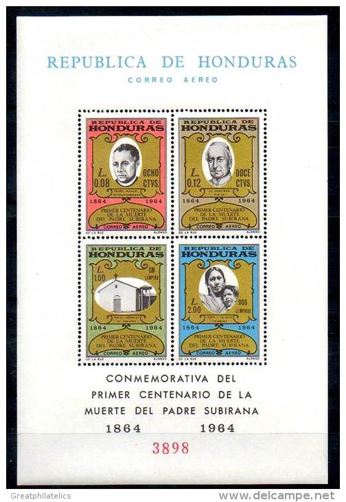 Honduras 1965 MISSIONARY TO INDIANS  S/s SC#C369-76 CV.$20.00 MNH RELIGION - American Indians