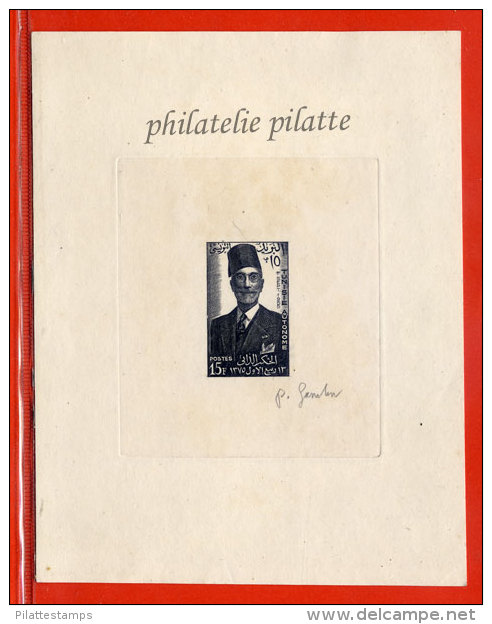 TUNISIE N°422 EPREUVE D´ARTISTE SIDI LAMINE PACHA COULEUR EN NOIR - Tunisie (1956-...)
