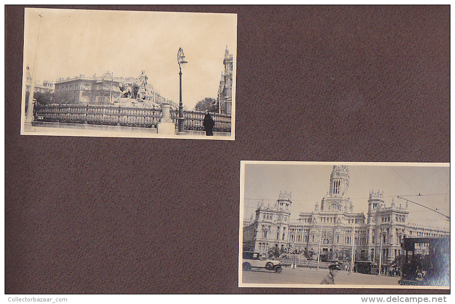 Viaje A Europa Rio España Baleares Barcelona Madrid 9 Paginas De Album  52 Foto Ca1900  Original Photo Postcard S - Albumes & Colecciones