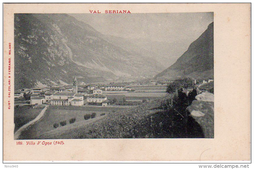 VILLA D'OGNA (BG) - PANORAMA  - F/P - N/V - Bergamo