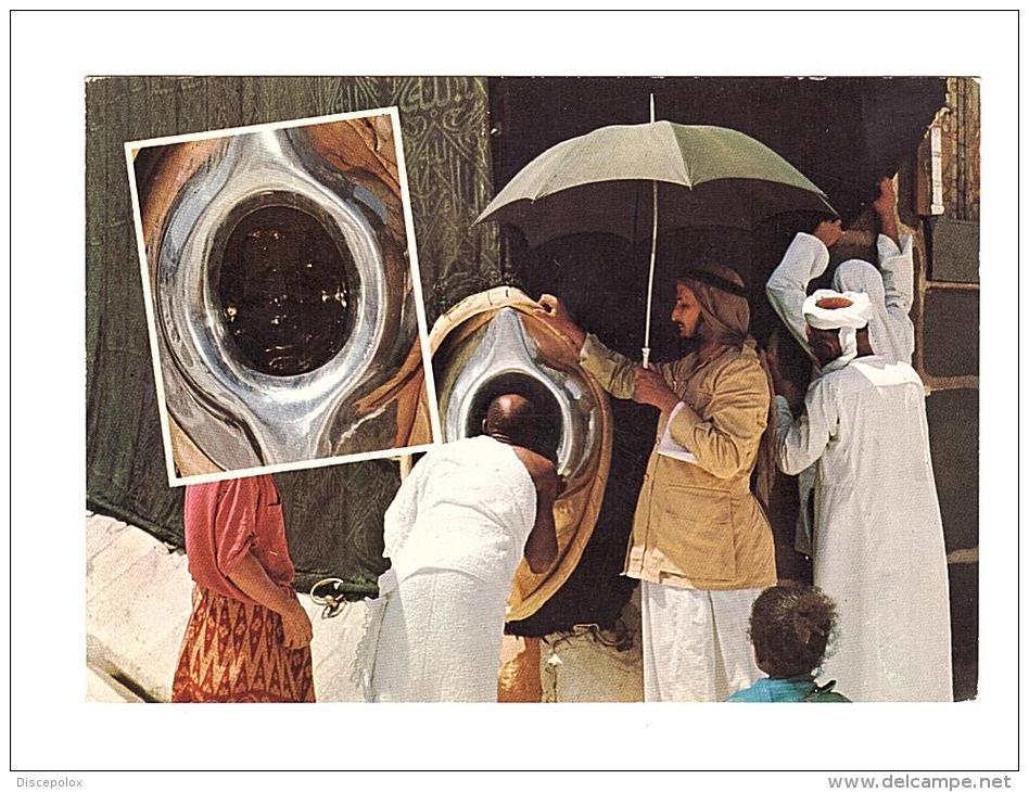 C2654 Saudi Arabia - Mecca - Pilgrims Kiss The Holy Black Stone / Non Viaggiata - Arabie Saoudite