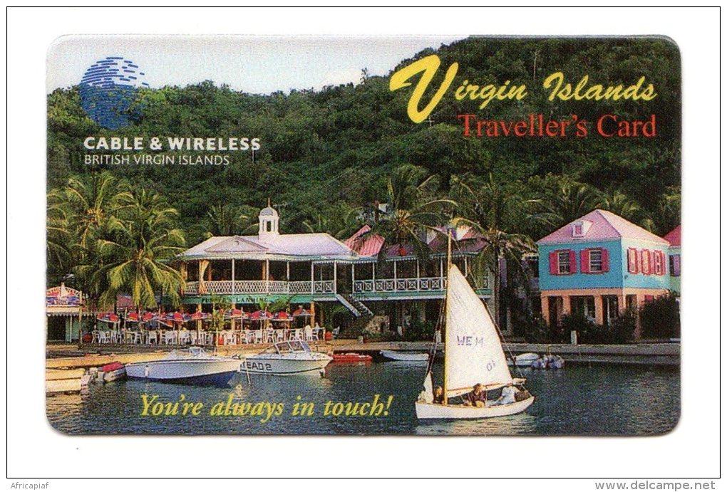ILES VIERGES BRITANNIQUE CARAIBES CABLE & WIRELESS PREPAYEE TRAVELLER´S CARD - Vierges (îles)