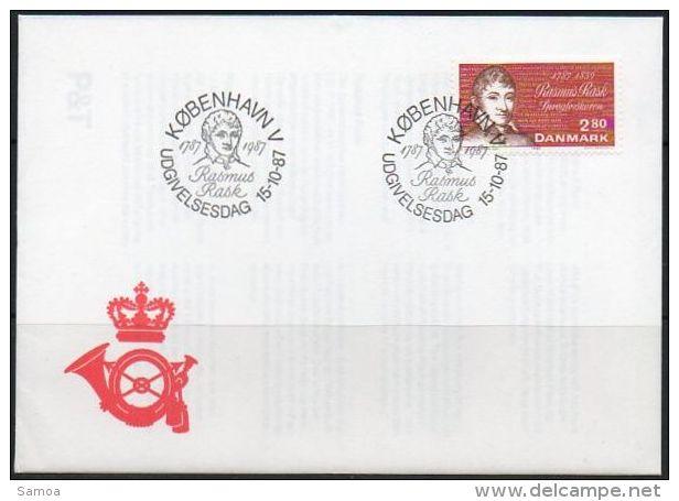 Danemark 1987 906 FDC - Bicentenaire De La Naissance De Rasmus Kristian Rask - Portrait Du Linguiste - FDC