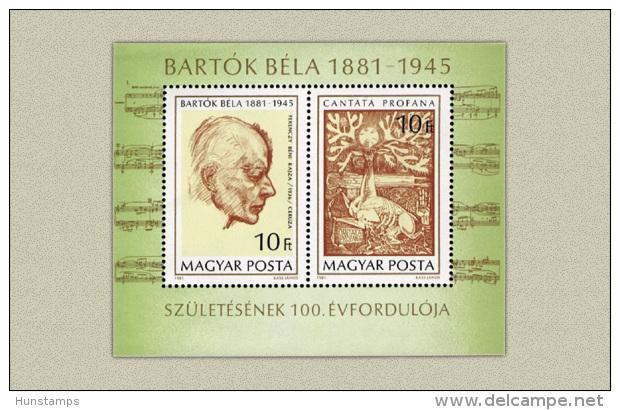 Hungary 1981. Béla Bartók Sheet MNH (**) Michel: Block 148A / 6.50 EUR - Ungebraucht