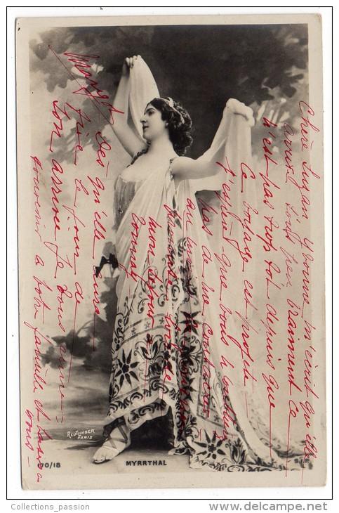 CP, MYRRTHAL, écrite, Voyagé En 1904, Dos Simple - Artistes
