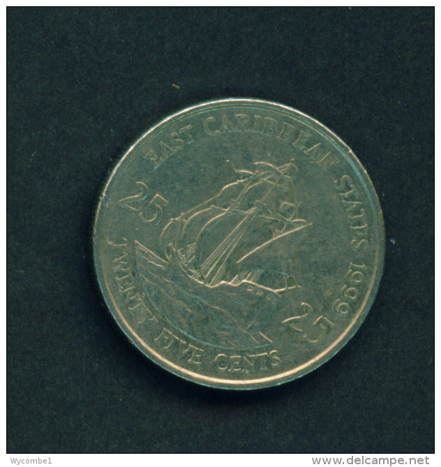 EAST CARIBBEAN STATES - 1999 25c Circ. - East Caribbean States