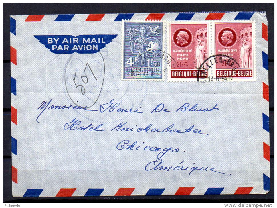 14 6 1954 bureau europ en de la jeunesse walth re dew lettre vers chicago. Black Bedroom Furniture Sets. Home Design Ideas