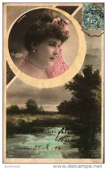 Artiste Femme 1900 Reutlinger - Zarina (Sip 942) Décor Paysage - Artistes