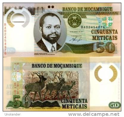 MOZAMBIQUE       50 Meticais       P-150       16.6.2011       UNC - Mozambique
