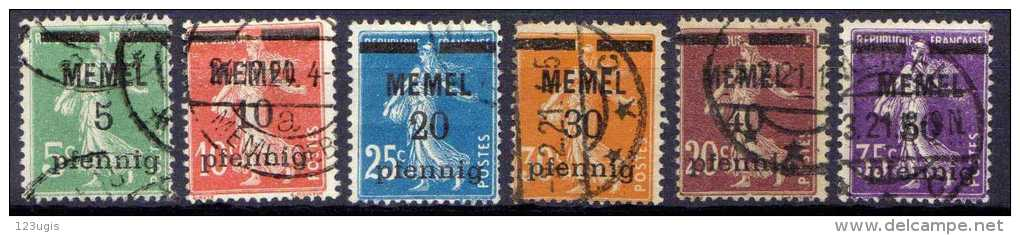 Memel 1920 Mi 18-23, Gestempelt [140713VI] @ - Memelgebiet