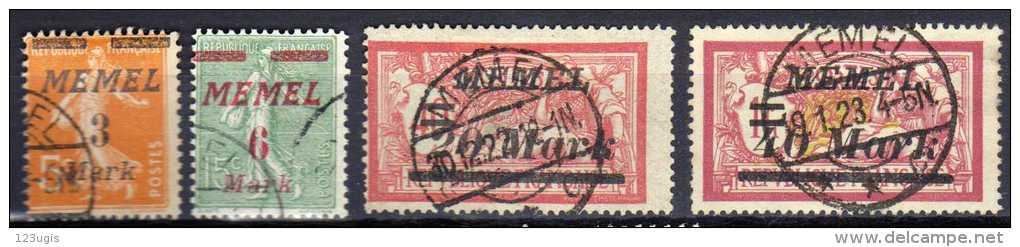 Memel 1922 Mi 110-111; 114; 116, Gestempelt [140713VI] @ - Memelgebiet