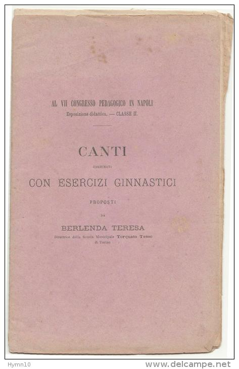 DC468-1871 Editore PARAVIA CANTI COMBINATI Con ESERCIZI COMBINATI Di BERLANDA TERESA-solo TESTO Senza SPARTITI - Antiquariat