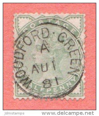 "GBR SC #78 U Queen Victoria W/CDS ""WOODFORD GREEN /  AU 1 81"" W/some Lt Backside Stns, CV $13.50 - 1840-1901 (Victoria)"