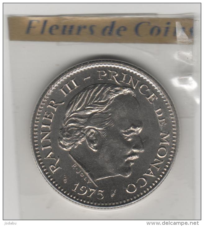 Superbe Piéce De 5 Frs 1975 De Monaco FDC..14.000 Exemplaires - 1960-2001 New Francs