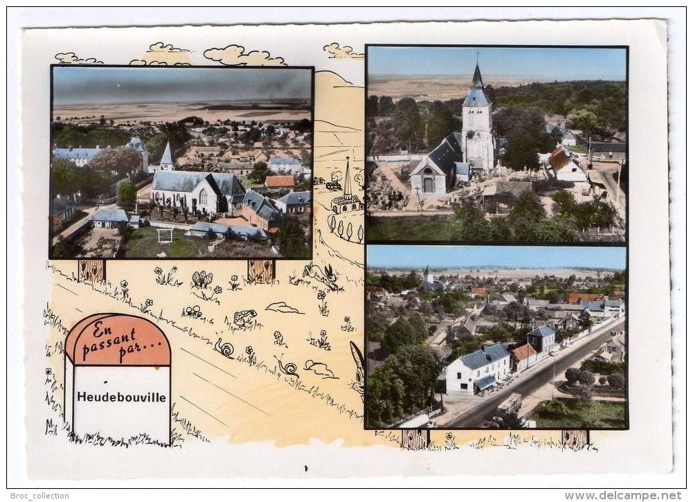 En Passant Par Heudebouville, 3 Vues, église, Lapie N° 175 - Autres Communes