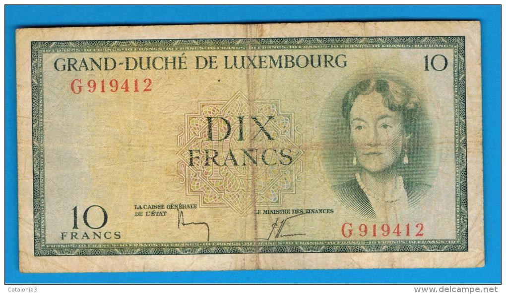 LUXEMBURGO -  10 Francs ND  P-48  Serie G - Luxemburgo
