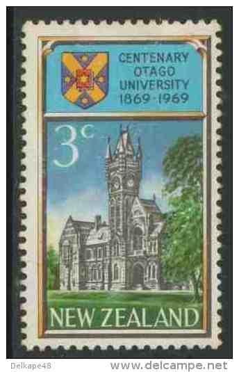 New Zealand Neuseeland 1969 Mi 502 YT 483 * MH Centenary Otago University + Coat Of Arms University/ Wappen Universität - Postzegels