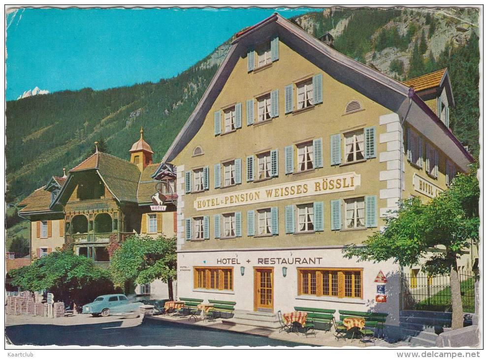 Göschenen : PEUGEOT 403 - Hotel Weisses Rössli - Gotthardstrasse, Familie Zgraggen - Suisse/Schweiz - Passenger Cars