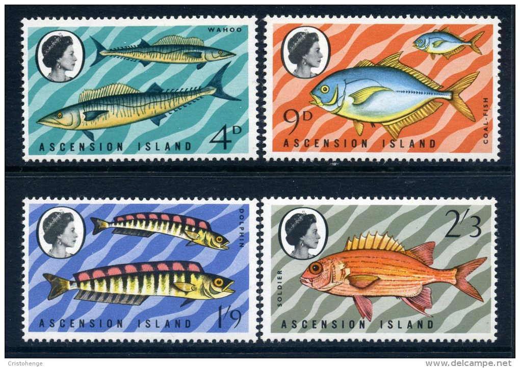 Ascension 1970 Fishes (3rd Series) Set MNH - Ascension