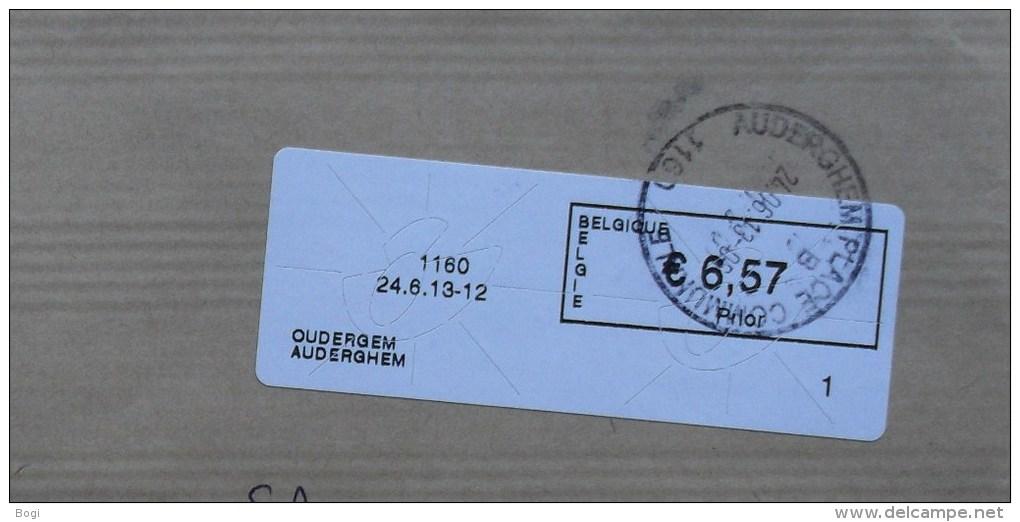 België 2013 Oudergem 1160 - Prior Klein - Nr. 1 (fragment 114 X 228 Mm) - Vignettes D'affranchissement