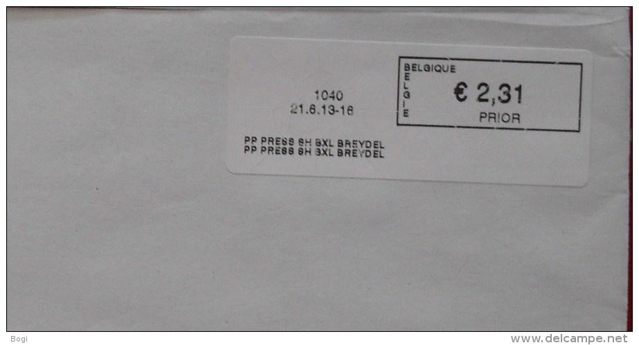 België 2013 PP Press SH BXL Breydel 1040 (fragment 114 X 228 Mm) - Vignettes D'affranchissement