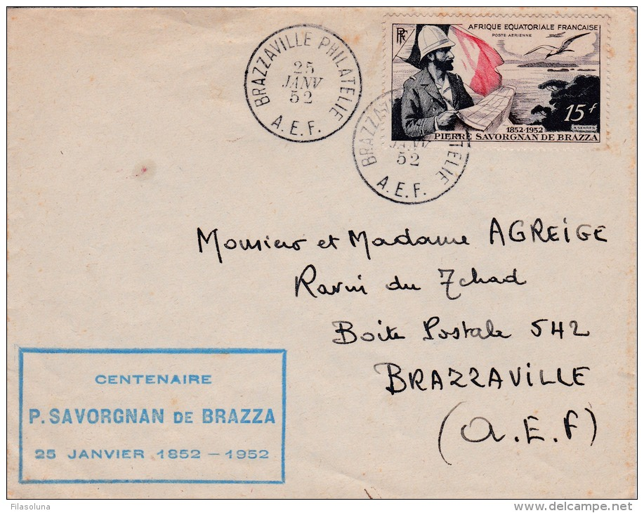 00356 Carta De Africa Ecuatorial Francesa Brazzaville 1952 - A.E.F. (1936-1958)