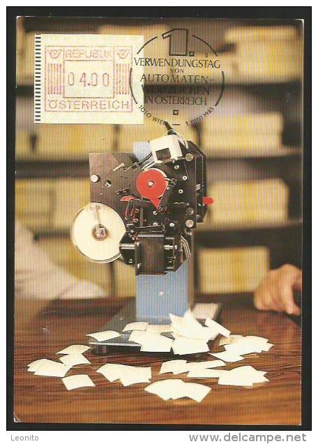 AUTOMATENMARKEN Stempel 1. Verwendungstag In Österreich Ab 1. Juni 1983 - Briefmarken (Abbildungen)
