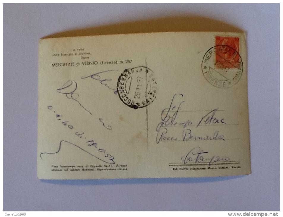 MERCATALE DI VERNIO VIAGGIATA DEL 1957 - Firenze