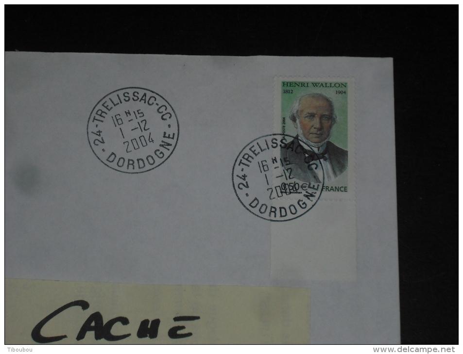 TRELISSAC CC - DORDOGNE - CACHET ROND MANUEL SUR YT 3729 - HENRI WALLON HISTORIEN HOMME POLITIQUE - - Marcophilie (Lettres)
