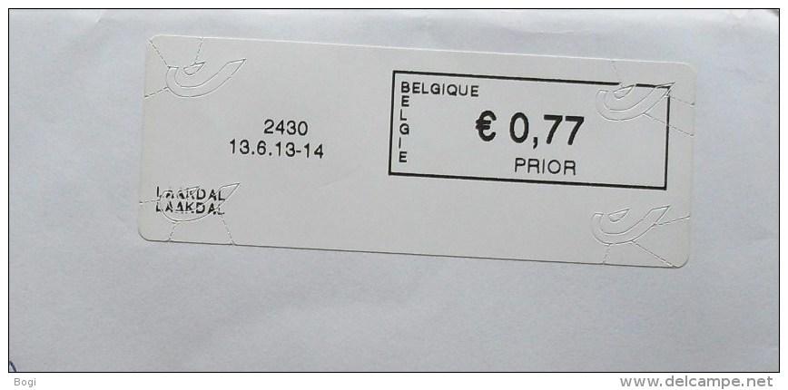 België 2013 Laakdal 2430 - Logo Bpost (briefomslag) - Vignettes D'affranchissement