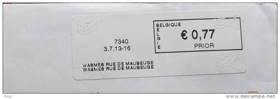 België 2013 Wasmes Rue De Maubeuge 7340 - Logo Bpost (briefomslag) - Vignettes D'affranchissement
