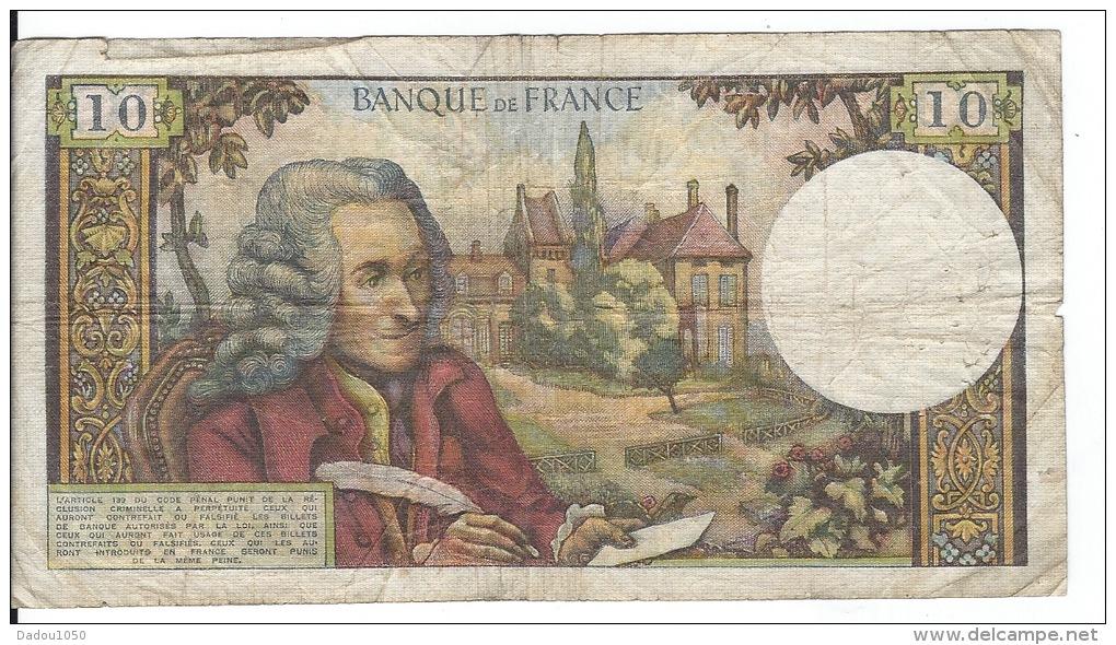 10 FRANCS VOLTAIRE - 10 F 1963-1973 ''Voltaire''