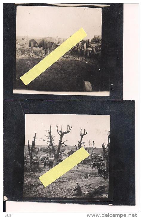 Mametz Somme Friedensturm 2 Tirages Sur Paier Carte Photo Allemand Poilus 1914-1918 14-18 Ww1 WWI 1.wk - War, Military