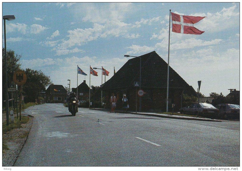 Borderline  Rudbøl    Between Germany & Denmark .  Grenze -Borderstation.  # 0880 - Postcards