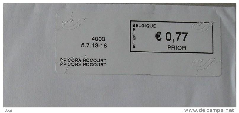 België 2013 PP Cora Roccourt 4000 - Logo Bpost (briefomslag) - Frankeervignetten