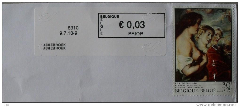 België 2013 Assebroek 8310 - Logo Bpost (briefomslag) - Frankeervignetten