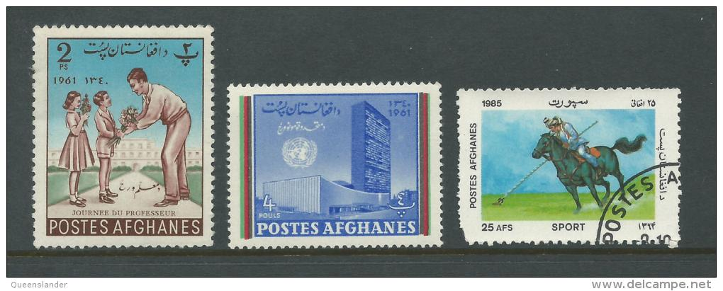 Small Selection Of  3 Stamps  2 MUH 1 Used Value Buying - Afghanistan