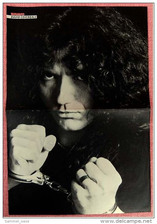 Kleines Poster  -  Mike Oldfield  -  Rückseite : David Coverdale  -  Von Bravo Ca. 1982 - Plakate & Poster