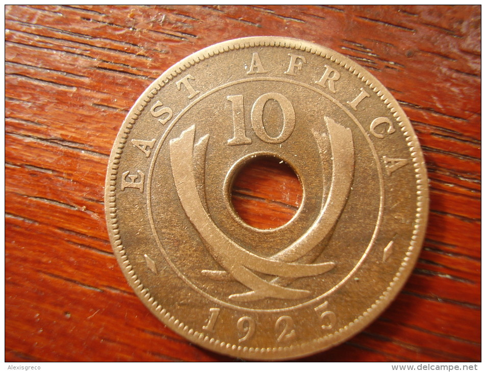 BRITISH EAST AFRICA USED TEN CENT COIN BRONZE Of 1925  - GEORGE V. - British Colony