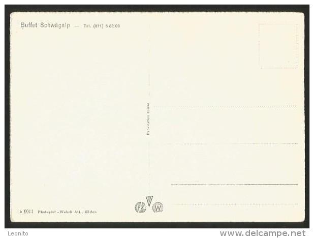 SÄNTIS Schwebebahn Seilbahn Buffet Schwägalp Ca. 1960 - AI Appenzell Rhodes-Intérieures