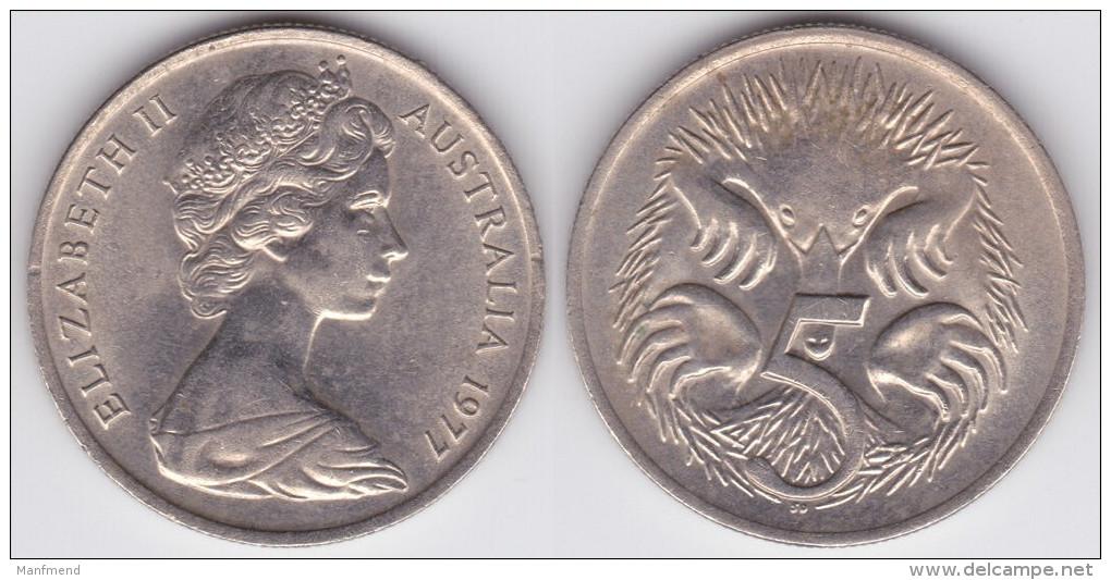 Australia - KM 64 - 5 Cents - 1970 - VF+ - Dezimale Münzen (1966-...)